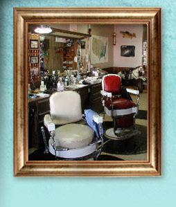Barber seats at Bob's Barber shop